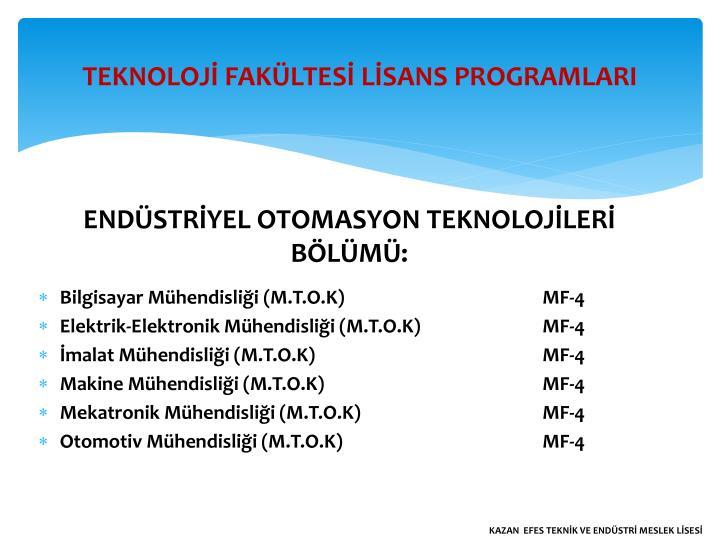 ENDÜSTRİYEL OTOMASYON