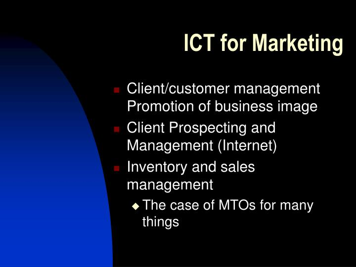 ICT for Marketing