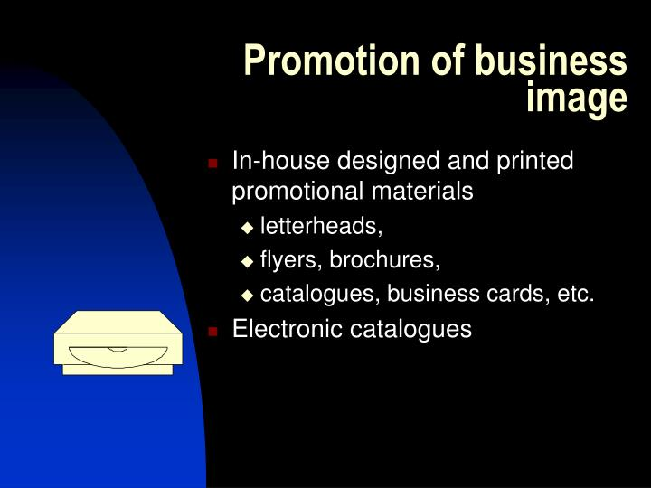 Promotion of business image