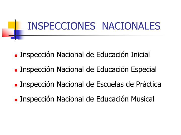 INSPECCIONES  NACIONALES