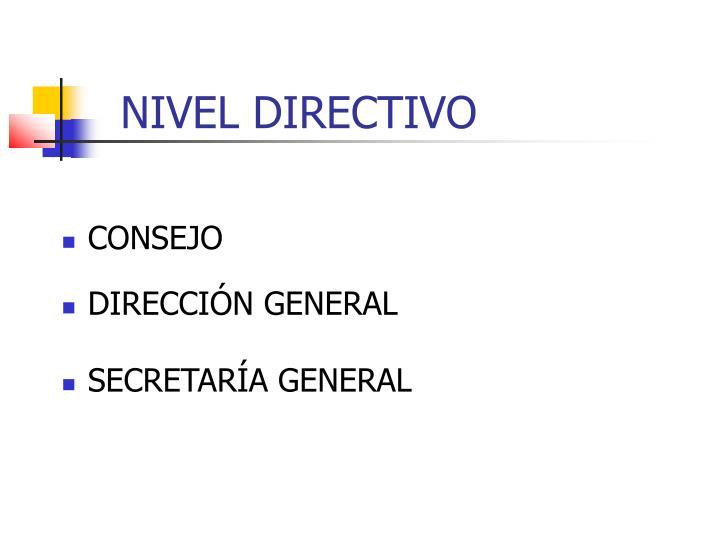 NIVEL DIRECTIVO