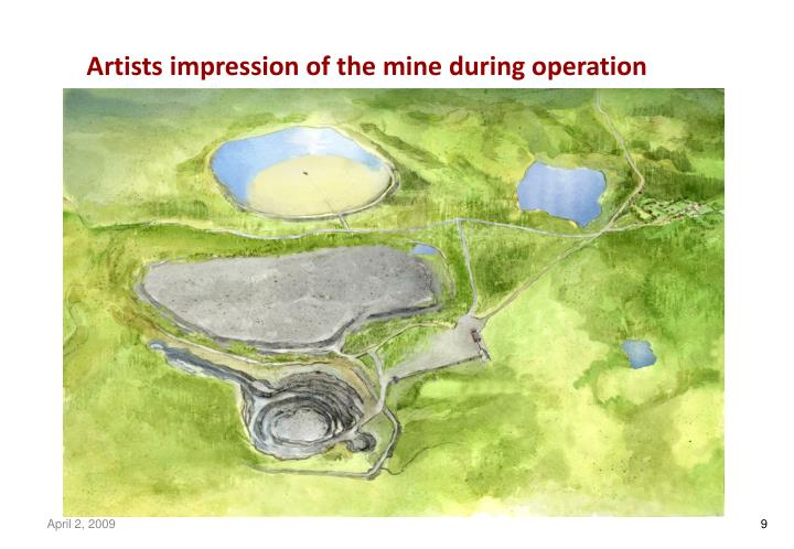 Artists impression of the mine during operation