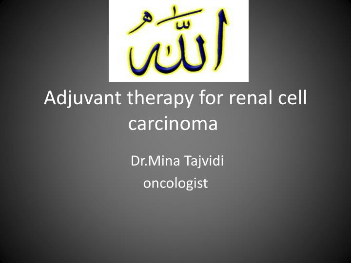 Adjuvant therapy for renal cell carcinoma