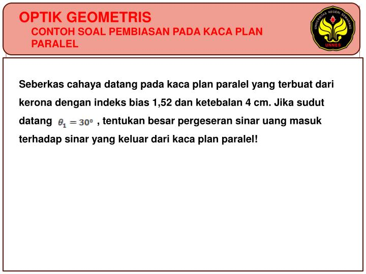 OPTIK GEOMETRIS
