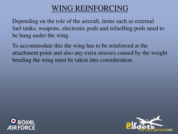 WING REINFORCING