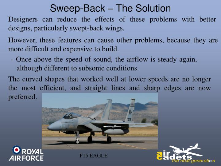 Sweep-Back – The Solution