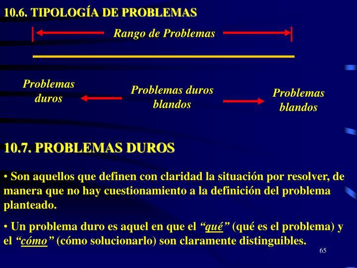 10.6. TIPOLOGÍA DE PROBLEMAS