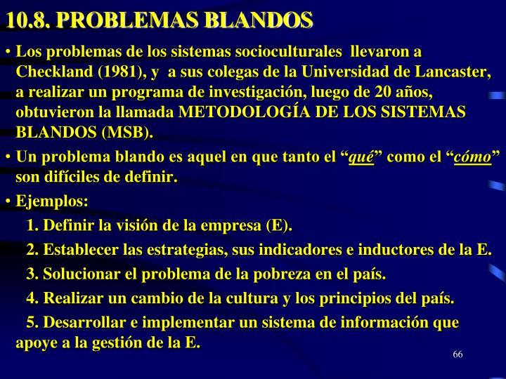 10.8. PROBLEMAS BLANDOS