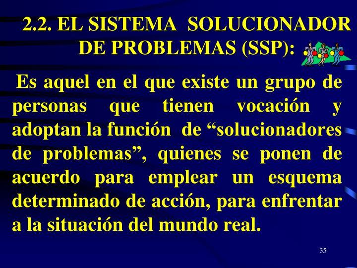 2.2. EL SISTEMA  SOLUCIONADOR DE PROBLEMAS (SSP):