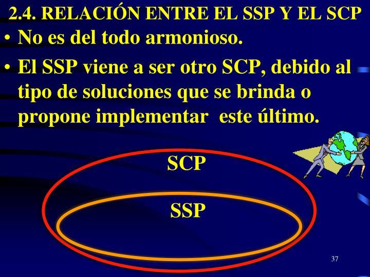 2.4. RELACIÓN ENTRE EL SSP Y EL SCP