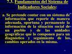 7 3 fundamentos del sistema de indicadores sociales