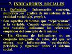 7 indicadores sociales