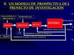 ii un modelo de prospectiva de l proyecto de investigaci n