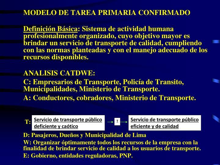 MODELO DE TAREA PRIMARIA CONFIRMADO