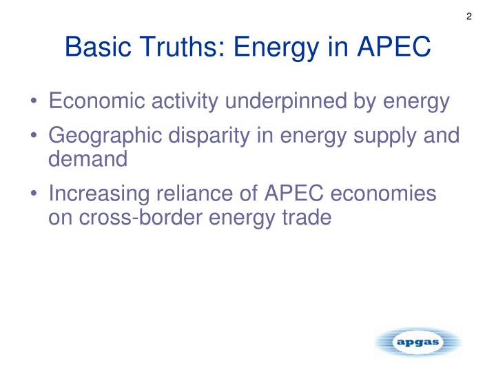 Basic Truths: Energy in APEC