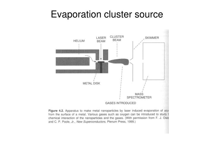 Evaporation cluster source