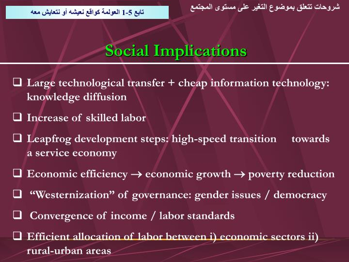 شروحات تتعلق بموضوع التغير على مستوى المجتمع