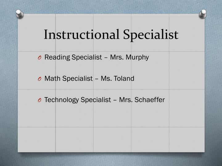 Instructional Specialist