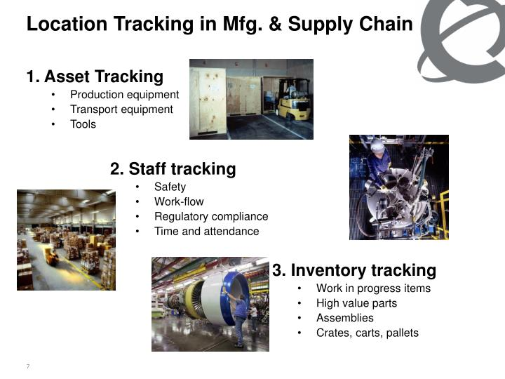 Location Tracking in Mfg. & Supply Chain