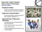 personnel asset tracking with location technology end user impact