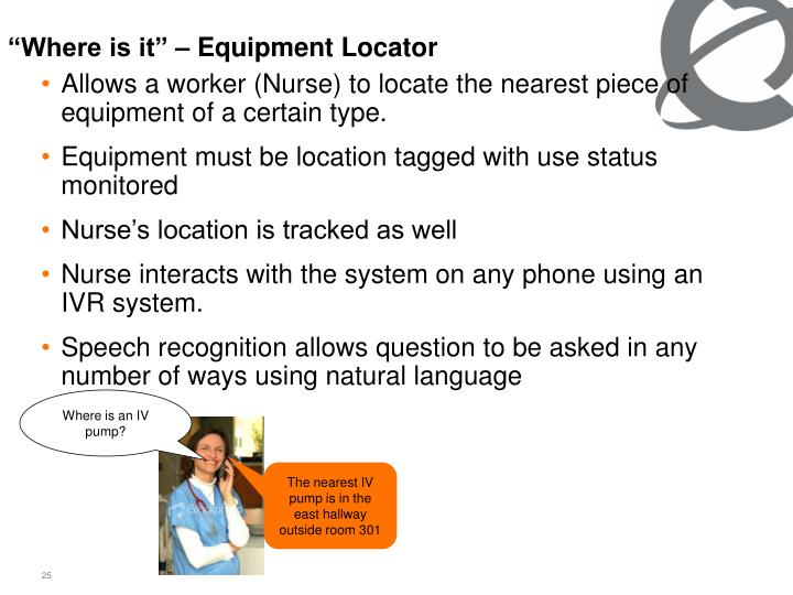 """Where is it"" – Equipment Locator"