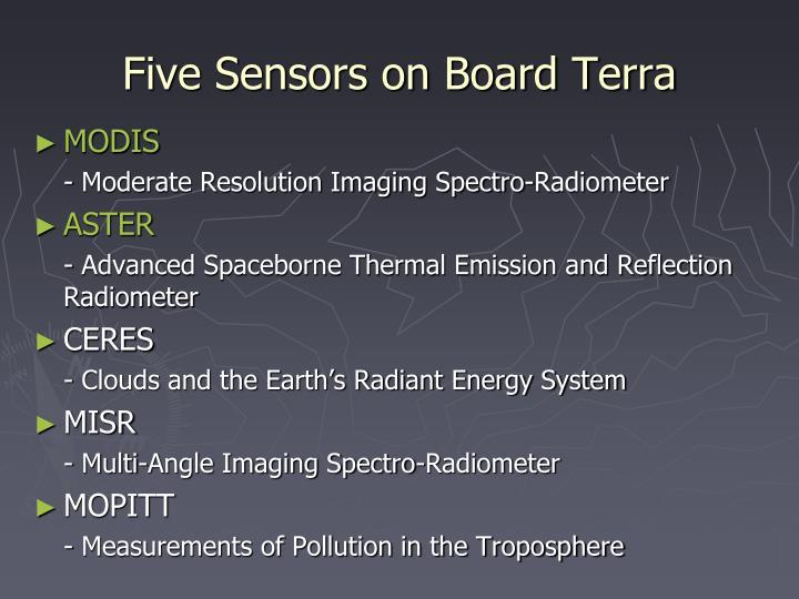 Five Sensors on Board Terra