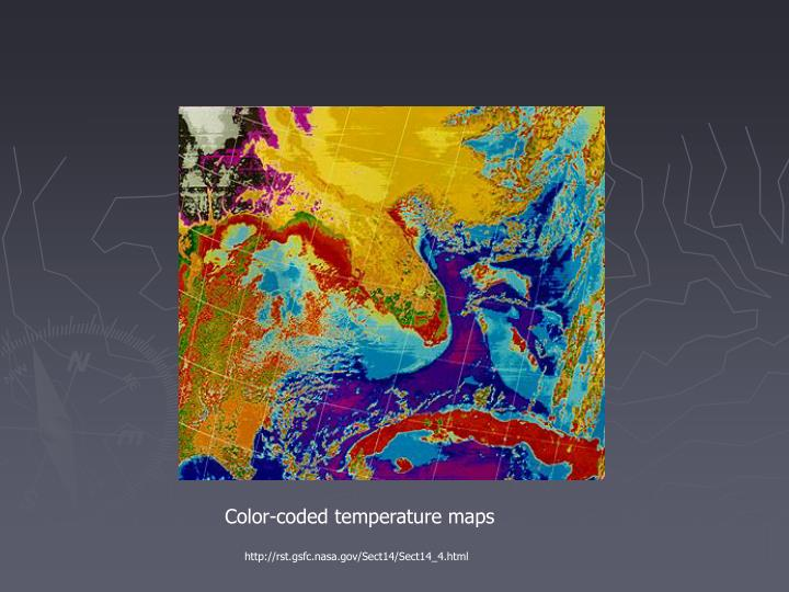 Color-coded temperature maps