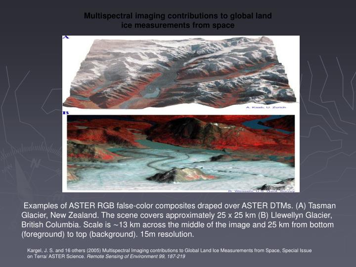 Multispectral imaging contributions to global land ice measurements from space