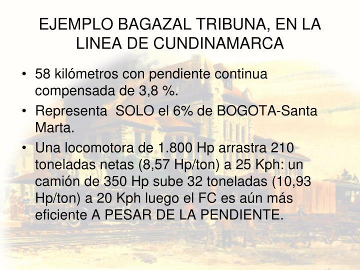 EJEMPLO BAGAZAL TRIBUNA, EN LA LINEA DE CUNDINAMARCA
