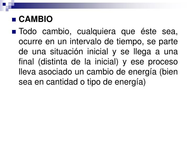 CAMBIO