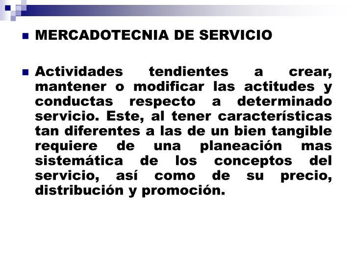 MERCADOTECNIA DE SERVICIO