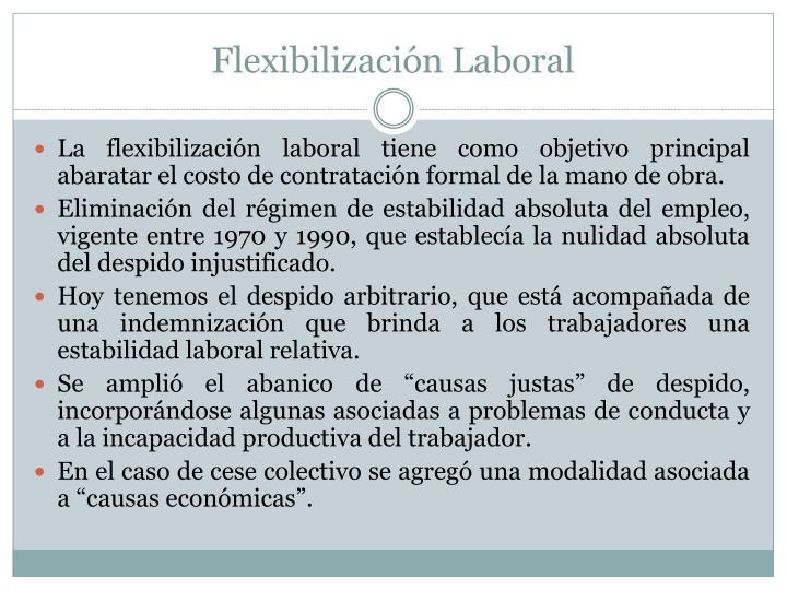 Flexibilización Laboral