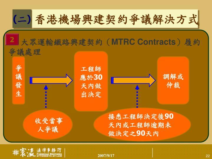 大眾運輸鐵路興建契約(