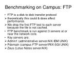 benchmarking on campus ftp
