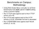 benchmarks on campus methodology