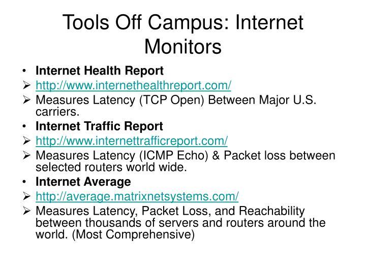 Tools Off Campus: Internet Monitors