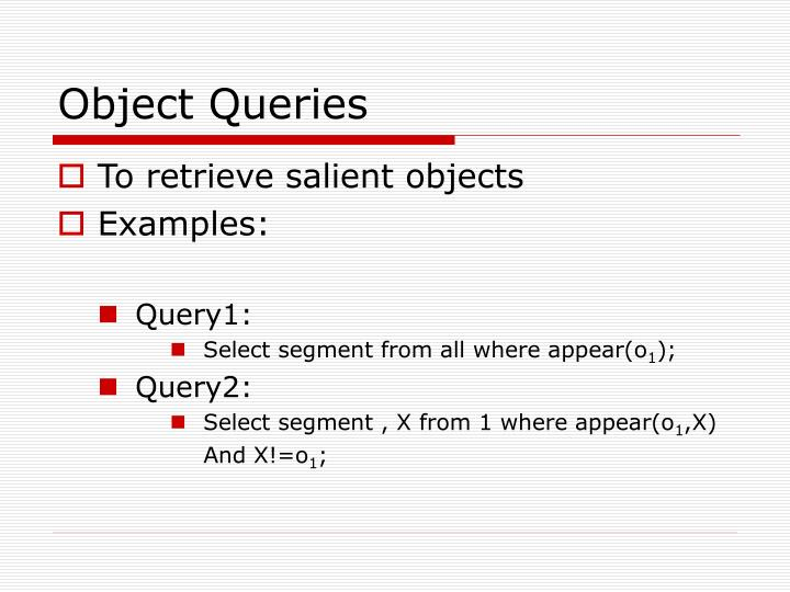 Object Queries