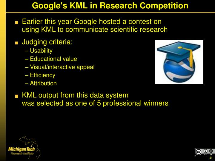 Google's KML in Research Competition