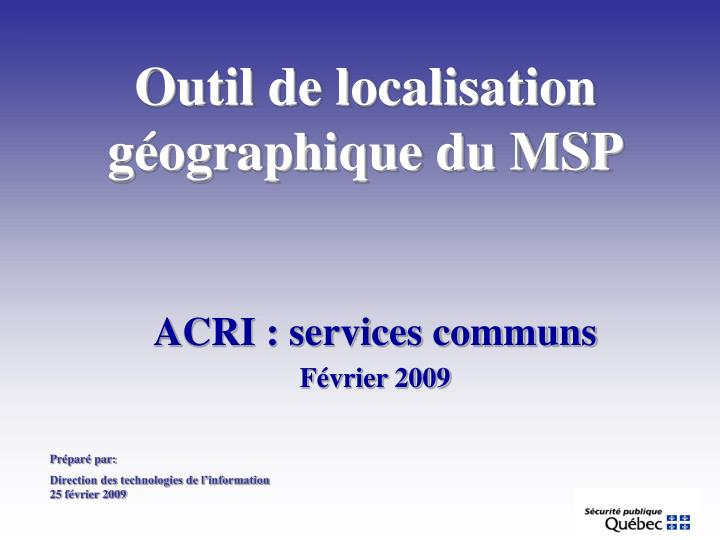 Acri services communs f vrier 2009
