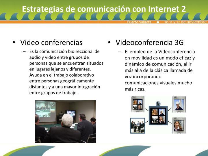 Estrategias de comunicación con Internet 2