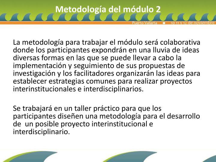 Metodología del módulo 2