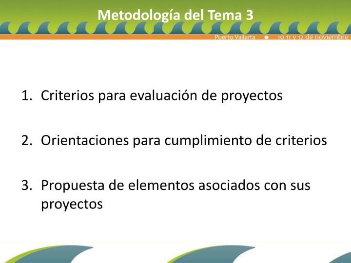 Metodología del Tema 3