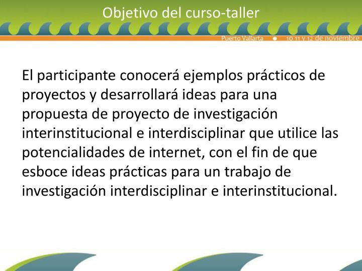 Objetivo del curso-taller