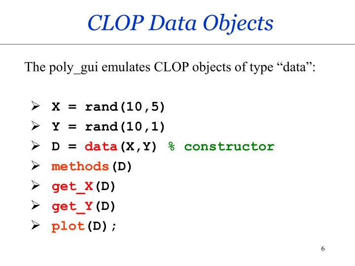 CLOP Data Objects