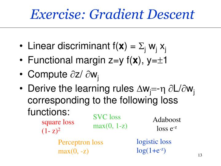 Exercise: Gradient Descent