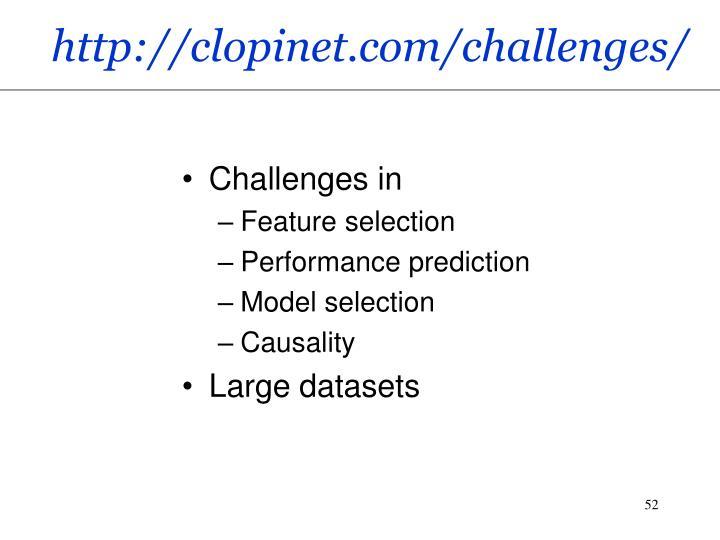 http://clopinet.com/challenges/