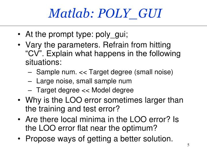 Matlab: POLY_GUI