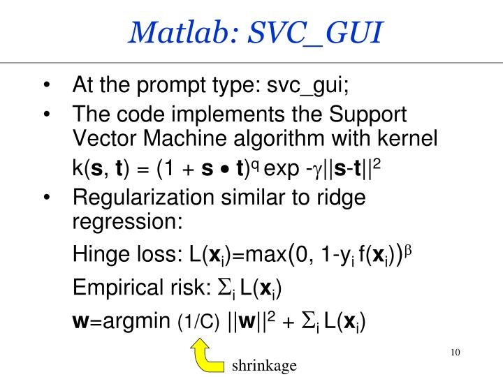 Matlab: SVC_GUI