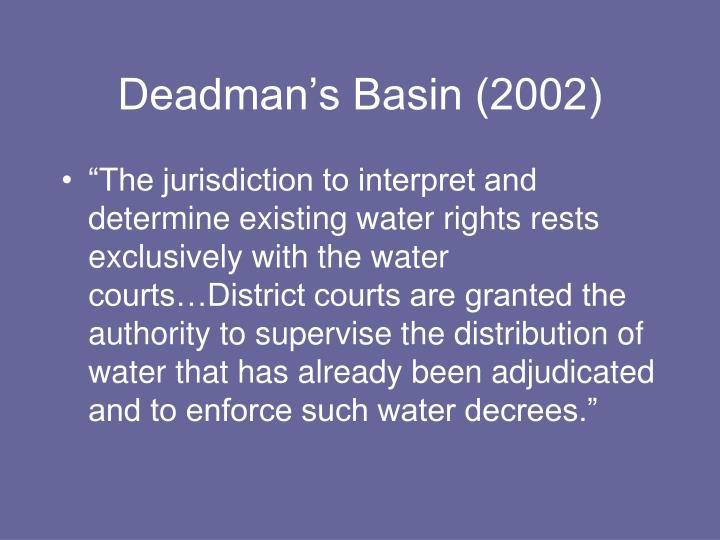 Deadman's Basin (2002)