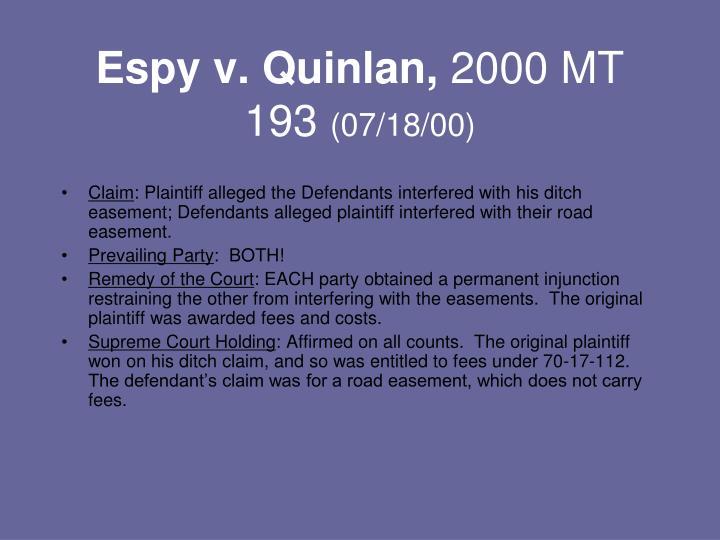 Espy v. Quinlan,